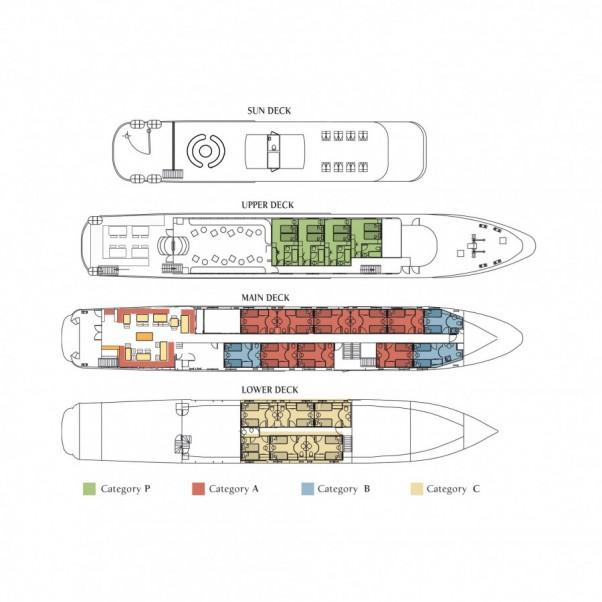 Harmony G Yacht Deck Plans